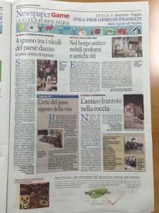 Articolo news paper game Sant'Agata di P.